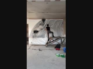 Роспись гостиной частного дома, Краснодар, Россия. ko6.ru