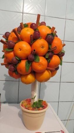 красивое мандариновое дерево