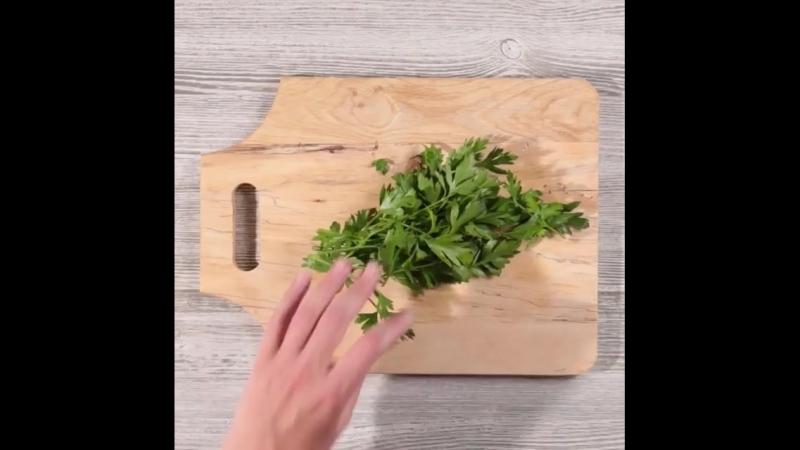 Картофель с рикоттой и травами