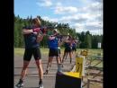 Стрелковая тренировка мужской сборной Норвегии на сборе в Турсбю (июнь 2018)