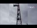 Выкса РФ Три подростка залезли на телевизионную вышку у ДК Лепсе
