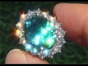 GIA Certified FLAWLESS Natural Blue Zircon Diamond 14k White Gold Cocktail Ring - C163