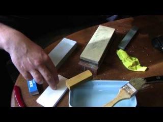 Сравнение заточки камнями СССР и Японские водные камни на бритвах
