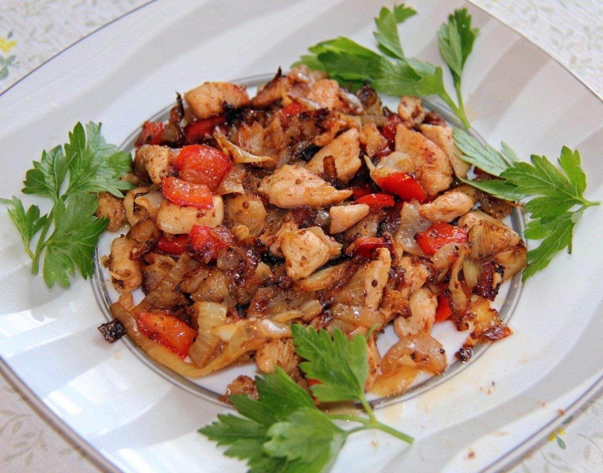 Курица тушеная с овощами рецепт