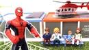 Örümcek adam ile oyun Havacılar gösterisi Oyuncak uçaklar