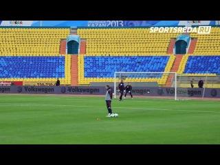 Тренировка сборной России по футболу в Казани
