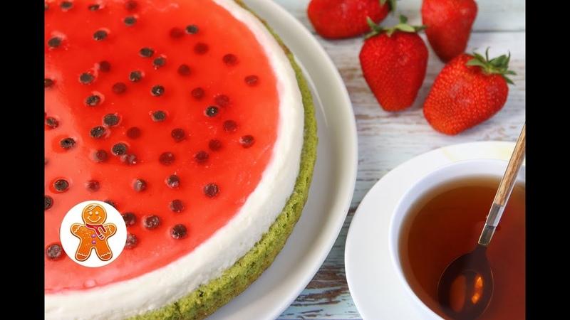Торт Пирог Арбуз ✧ Watermelon Cake (English Subtitles)