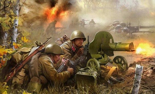 Рисунки солдат на великой отечественной войне