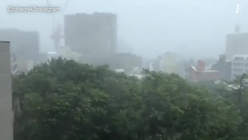 Typhoom Trami in Okinawa Japan September 29 2018