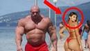 When Monsters Walk On The Street Shirtless Bodybuilders In Public Bodybuilding Motivation