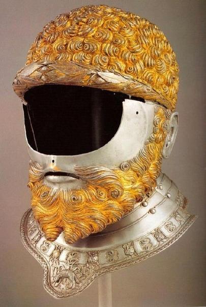 Парадный шлем римского императора Карла V, изготовленный известнейшим оружейником всех времён Филиппо Негроли