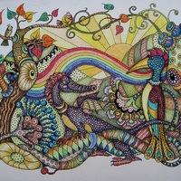 Дудлинг и зентангл - медитативное рисование, Ярославль: Зентангл - это абстрактный...