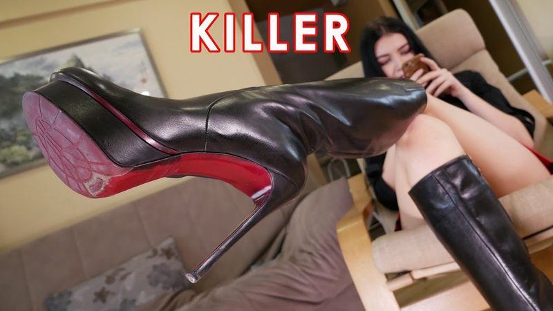 Nana's platform extreme high heels Gianmarco Lorenzi killer boots EU 38 US 7,5