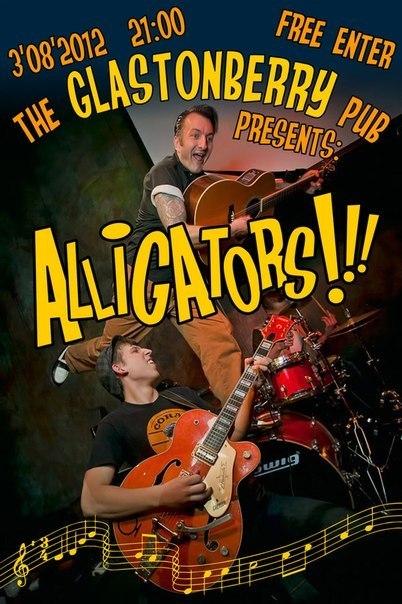 03.08 THE ALLIGATORS в GLASTONBERRY PUB