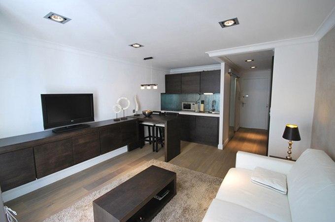 Дизайн квартиры-студии 28 м в Каннах / Франция - http://kvartirastudio.