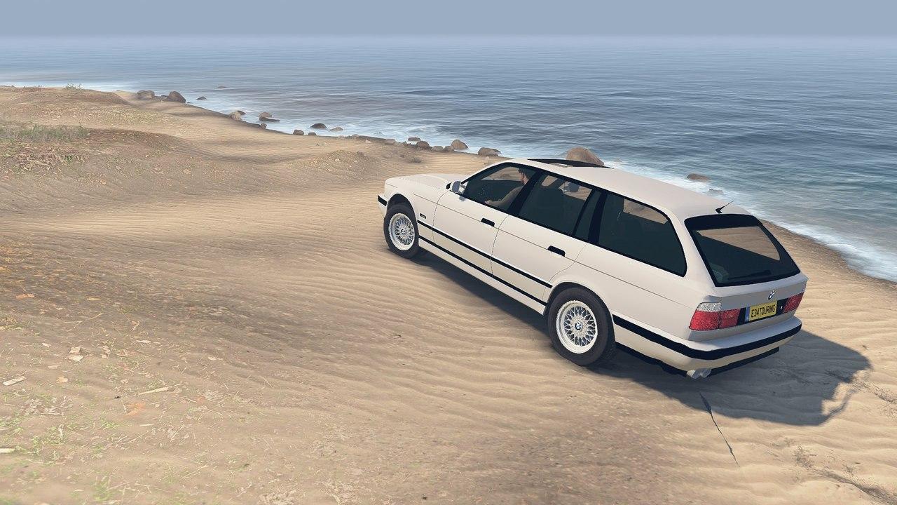 BMW e34 525iX для 23.10.15 для Spintires - Скриншот 2