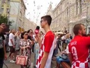 Fans of Croatia in the centre of Moscow before the Final of FIF World Cup 2018