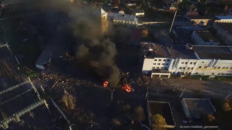 Взрыв на заводе Авангард г. Гатчина (Ленинградская область)