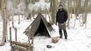 3 Day Solo Winter Snow Camp - Bushcraft, Canvas Tent, Woodstove, Bowdrill