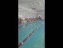 Первые соревнования по плаванию 👧