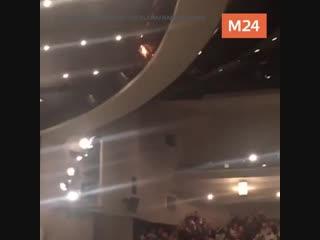 Пожар во время спектакля в Театре Сатиры