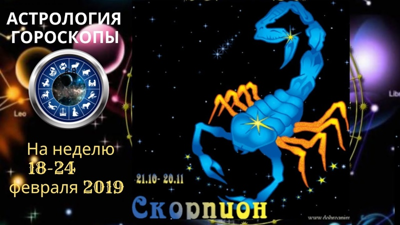 СКОРПИОН ГОРОСКОП СЕГОДНЯ ЗАВТРА НА НЕДЕЛЮ 18 24 02 2019