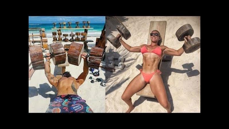 Тренажерный ЗАЛ в Джунглях из КАМНЕЙ и ДЕРЕВА - Tulum Jungle Gym - бодибилдинг мотивация