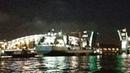 Проводка морского танкера «Академик Пашин». Большеохтинский мост