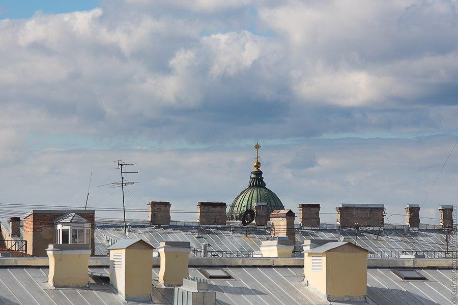 Прогулки по крыше в Санкт-Петербурге  Казанский собор