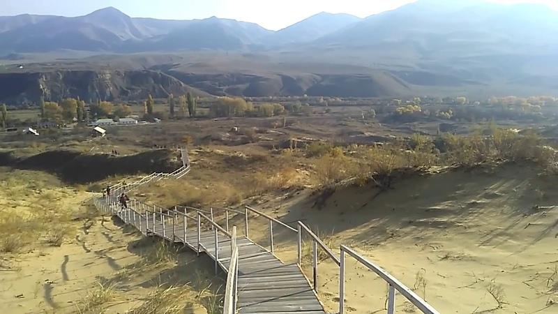 Эко тропа на бархан Сарыкум ноябрь 2018 туризм в Дагестане