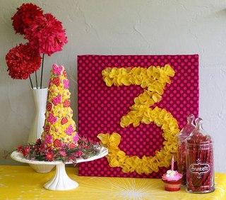 Как сделать цифру 3 на день рождения