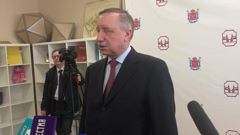 Беглов рассказал о строительстве Охтинского коллектора и планах по благоустройству рек