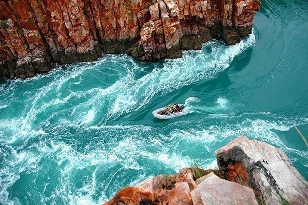 Горизонтальный водопад, бухта Талбот, Австралия