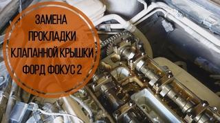 Замена прокладки клапанной крышки Форд Фокус 2. Масло в колодцах.