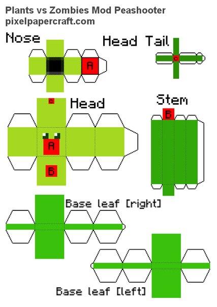 Как сделать из бумаги растения против зомби