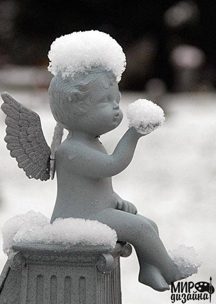 Ангел снега (1 фото) - картинка