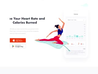 Landing page - yoga app