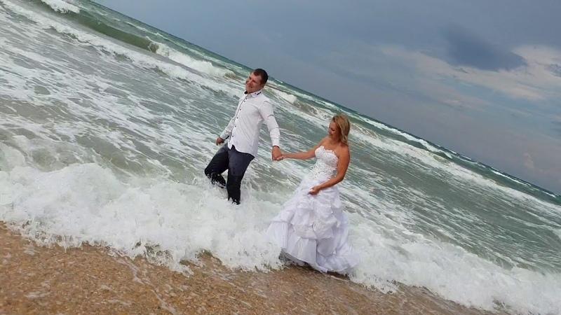 Топим невесту в ШТОРМ на пляже в Анапе- фотосессия - Юрий Озаровский
