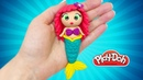 Русалочка. How to make Mermaid. Play Doh Dolls Mermaid Ariel. DIY for Kids. Video Play Doh Toys for Kids