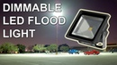 DIY Dimmable Flood Light LED Conversion Powered by Battery or Car