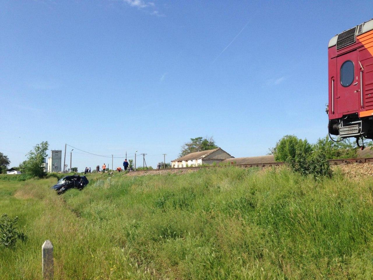 ДТП на ж/д переезде в Ростовской области