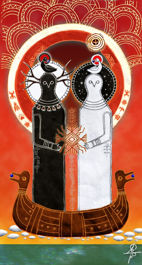 kosmogonia, Swaróg i Weles, wyłowienie Ziemi, słowiańska mitologia, rodzima wiara