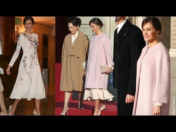 La Reina Letizia maravillosa con vestido de estilo oriental de Asos en la Visita de Estado de China