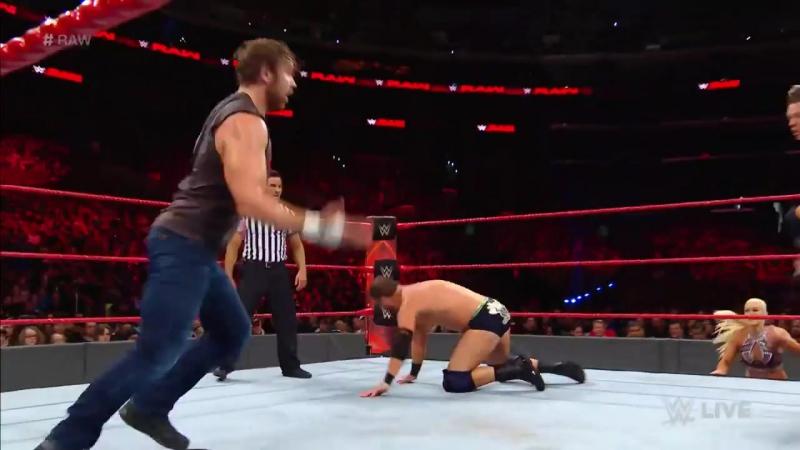 WWE RAW: Ambrose Slater Rhyno vs. The Miz