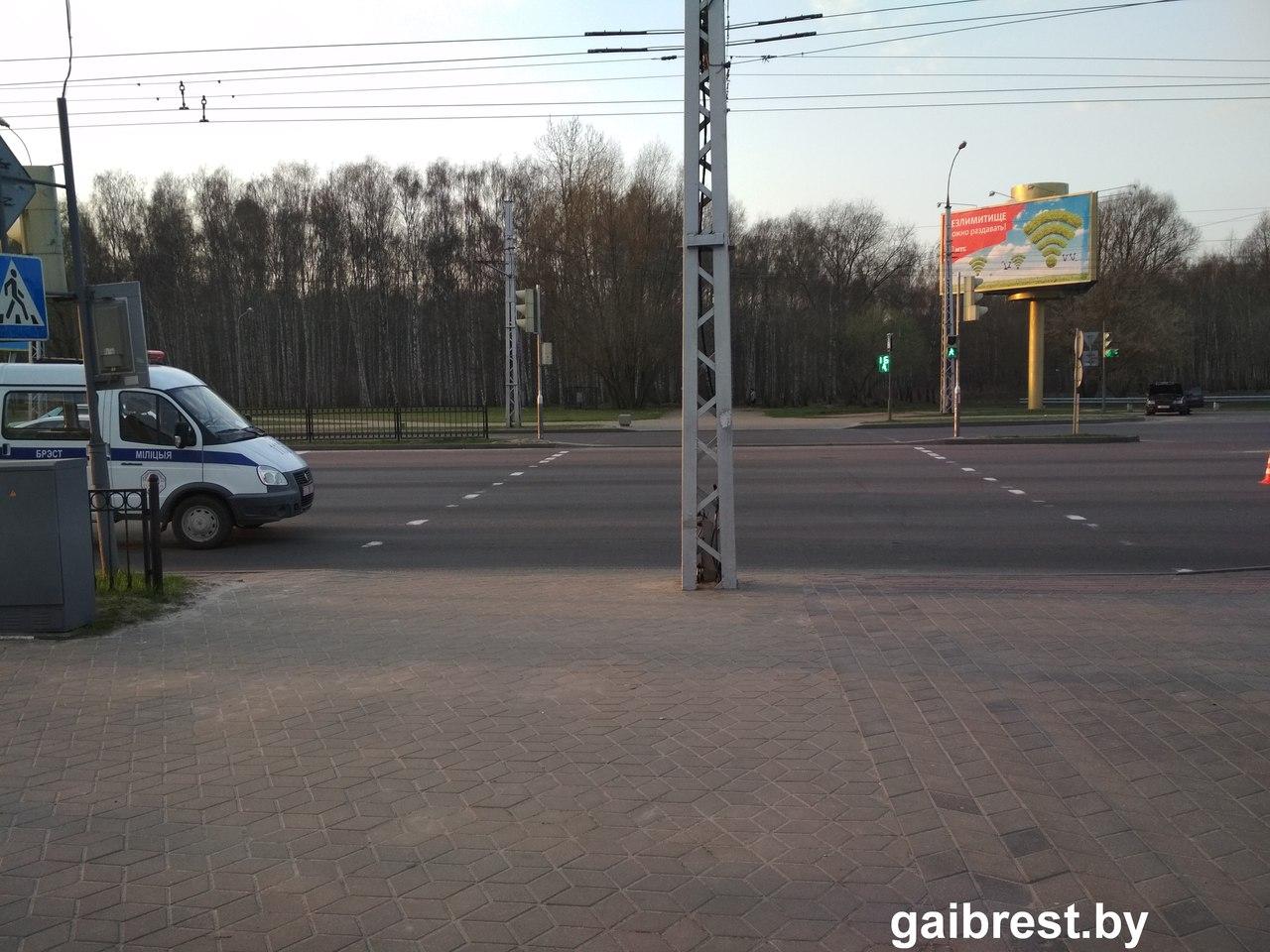 В Бресте очередной наезд на пешехода, на ул. Московской