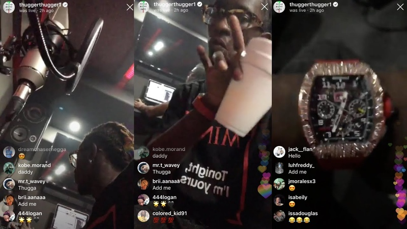 Young Thug plays the song he made on Instagram live Rich N gga Live