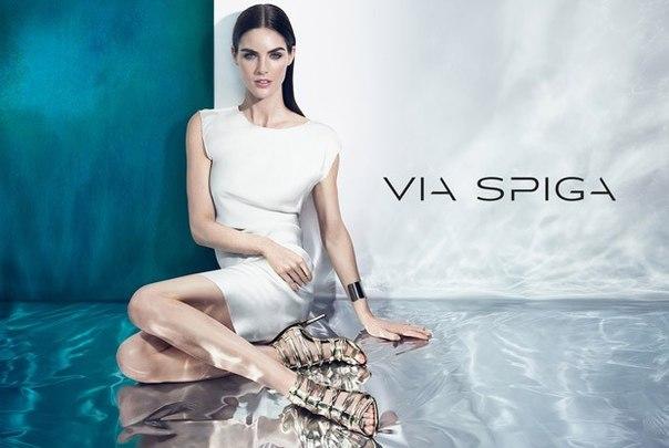Фото Хилари Рода (Hilary Rhoda) для рекламной компании Via Spiga (Виа Спига) весна-лето 2015