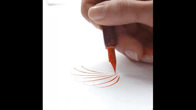 Упражнение каллиграфа