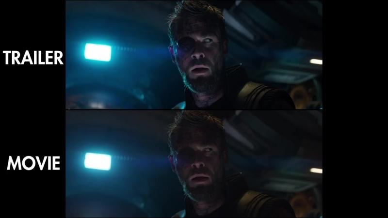 Avengers_ Infinity War - Trailer vs Movie Comparison [4K UHD]
