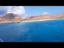 Прибытие на остров Грамвуса. Бухта Балос. Balos, Greece.